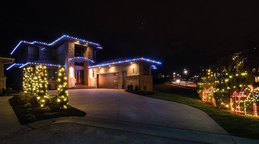 Christmas Light Installation in Kansas City
