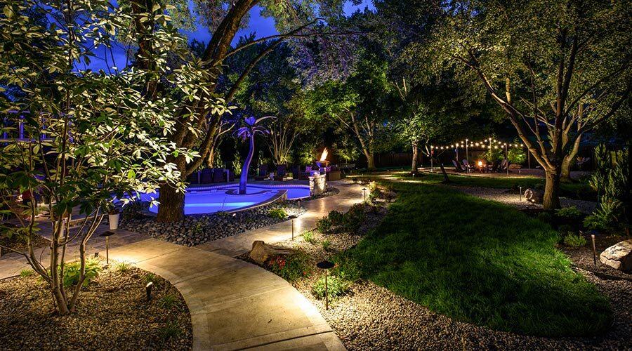 Backyard Lighting in Kansas City